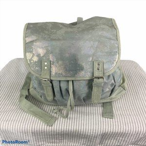 CLAIRE'S Blue Metallic Backpack